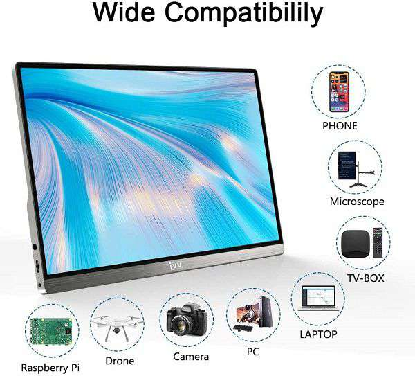 Monitor Portatile IVV 1080p 15,8 Pollici - 1
