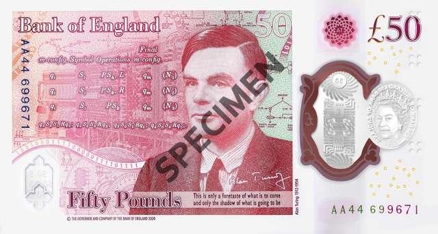 Alan Turing 50 sterline