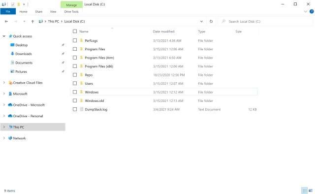 Esplora File nuovo layout