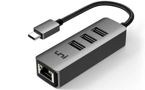 HUB USB Type-C 3.0 ed RJ45 Gigabit LAN in offerta