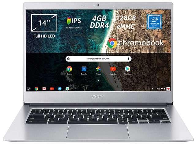 Il laptop Acer Chromebook 514 con sistema operativo Chrome OS e processore Intel