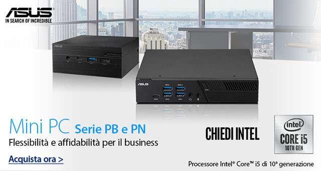 I Mini PC di ASUS (serie PB e PN) con processori Intel