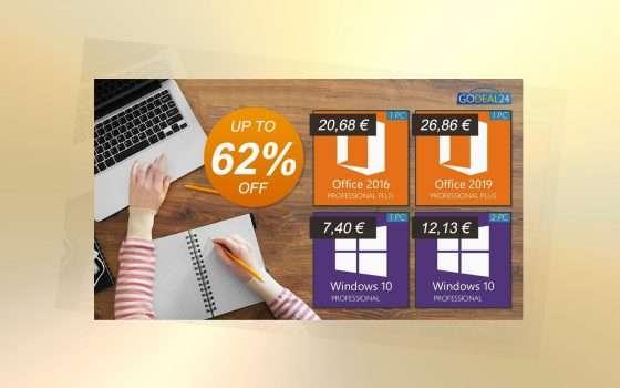 Offerta smart working Godeal24: Windows 10 Pro da 6€