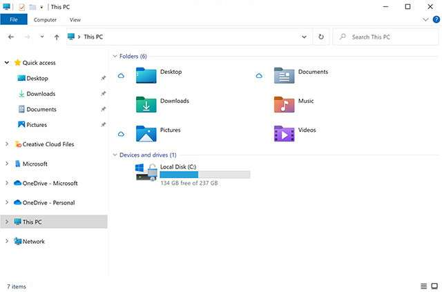 Windows 10: le nuove icone di Esplora File introdotte da Microsoft con la Insider Preview Build 21343