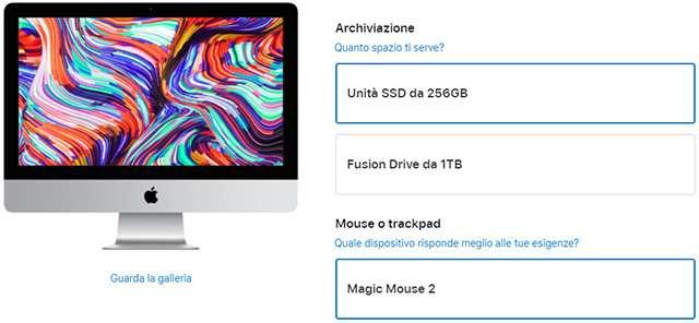 L'iMac di Apple da 21,5 pollici