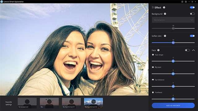 Lenovo Smart Appearance: screenshot dell'interfaccia