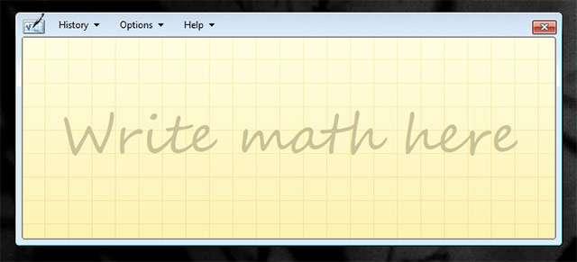 L'utility Math Input Panel di Windows 10