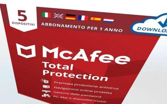 McAfee, prezzo BOOM: -67%, anche su Android e iOS