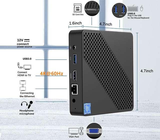 MinisForum N40, Mini PC con processore Intel