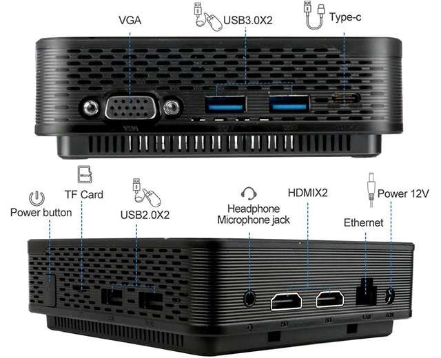 Il Mini PC di Yagala con processore Intel Celeron N4100