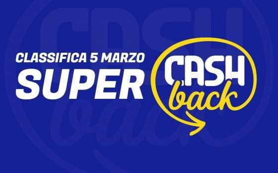 Super Cashback: classifica transazioni, 5 marzo