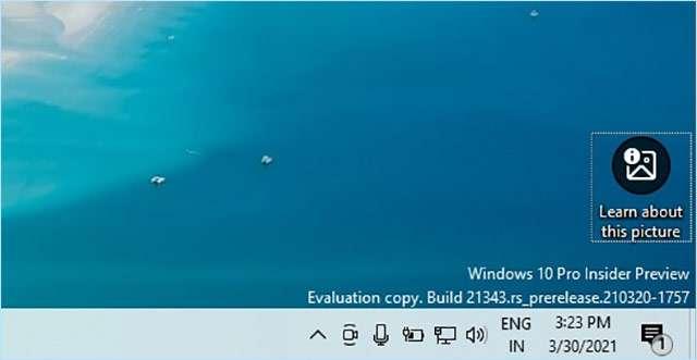 Spotlight per gli sfondi di Windows 10