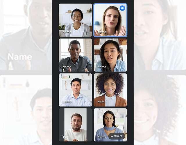 Google Meet: il layout Tile View su smartphone per visualizzare fino a 8 partecipanti in contemporanea