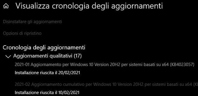 Microsoft Update Health Tools nell'aggiornamento KB4023057 di Windows 10
