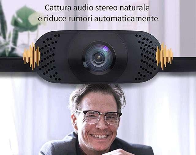La webcam 1080p di Wansview con doppio microfono per la cancellazione del rumore