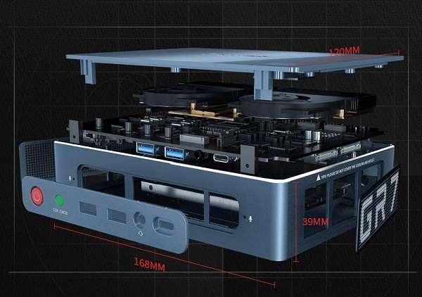 Mini PC Beelink GTR GR7 Ryzen 7 3750H - 1