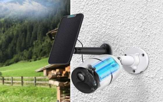 Videocamera di sorveglianza con pannello solare al prezzo minimo storico!