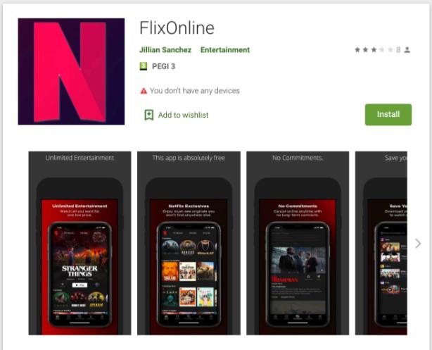 FlixOnline malware