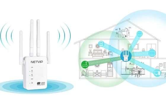 Ripetitore Wi-Fi 1200Mbps 3 in 1 scontato del 70%