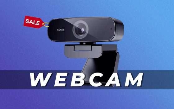 Webcam 1080P AUKEY in offerta su Amazon con questo coupon