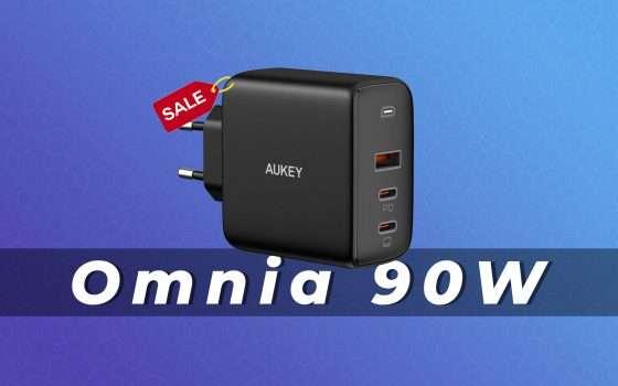 Caricatore USB da 90W AUKEY in offerta con questo coupon