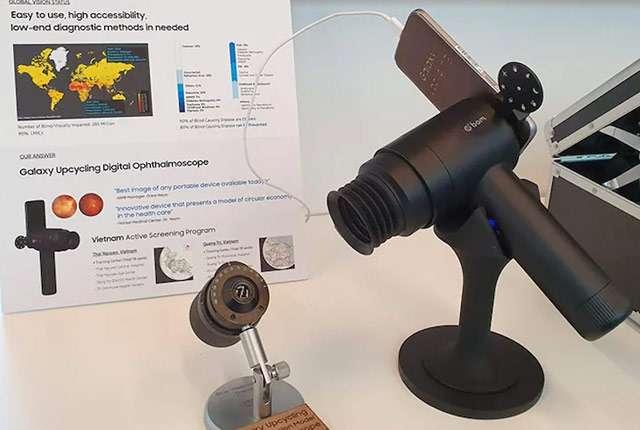 Il dispositivo Eyelike di Samsung che riutilizza vecchi smartphone Galaxy per esami della vista