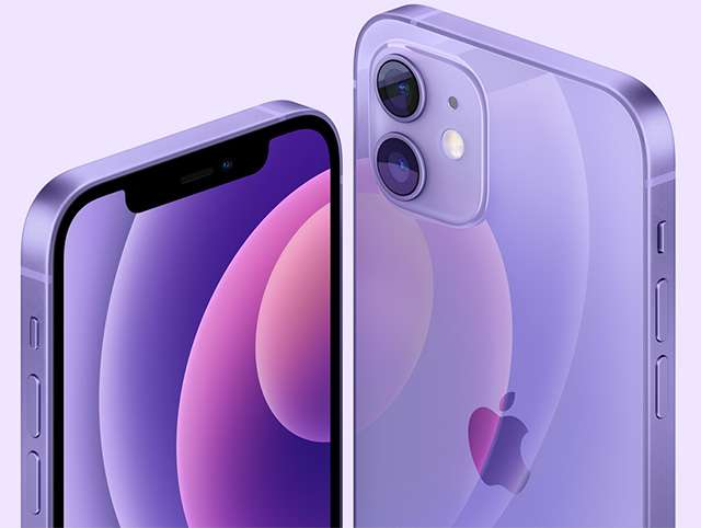 iPhone 12 e iPhone 12 mini nella colorazione Purple
