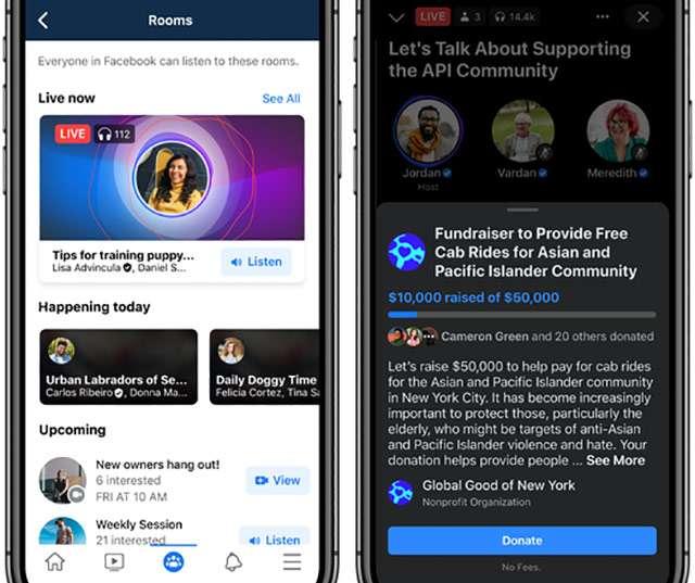 Facebook: Live Audio Room