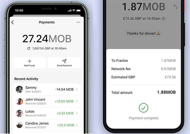 Il supporto alla criptovaluta MobileCoin in Signal, per l'invio e la ricezione di denaro in-app