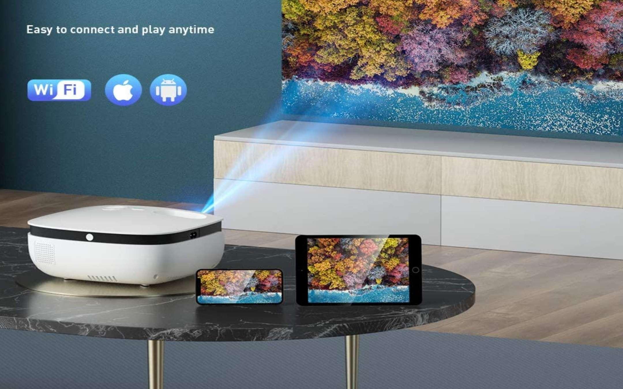 Proiettore WiMius S25 720p Wi-Fi e Bluetooth - 2