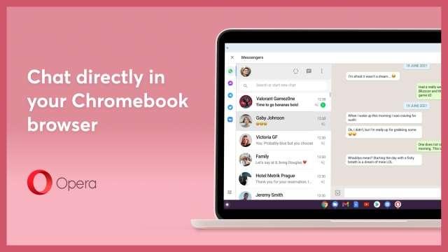 Opera contra el Chromebook