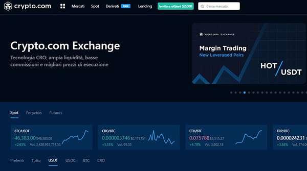 scambio di cripto con tariffe più basse investimento di trading criptovaluta
