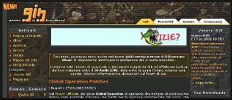 La Home Page di GIB