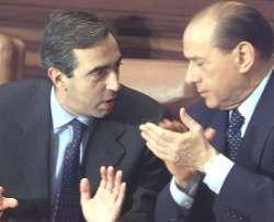 Gasparri con il presidente del Consiglio Berlusconi