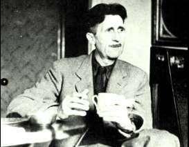 Una tazza in mano a George Orwell