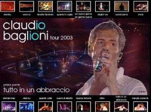 il DVD di Baglioni