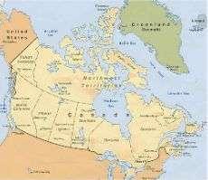una mappa del Canada