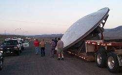 Consegna di un radiotelescopio