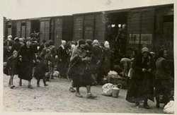 La foto di una delle infinite deportazioni operate dai nazisti