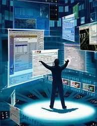 Un'immagine descrittiva di un'ipotetica console virtuale multitouch