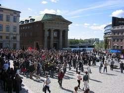 La manifestazione di Stoccolma