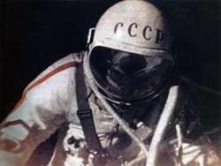 Il cosmonauta russo in action