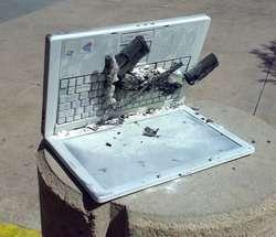 Il portatile andato a fuoco