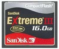 SanDisk Extreme III CompactFlash 16 GB