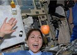 Fotina di una blogger nello spazio