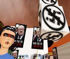 Un'immagine delle proteste