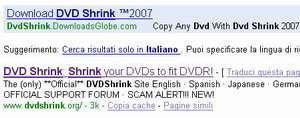[PHISHINGWARE] Scarica DVD Shrink e muori