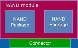 Schema concettuale di un modulo NAND Flash