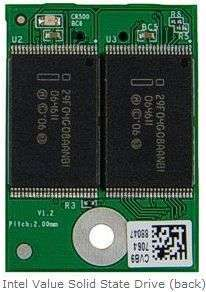Intel Value Solid State Drive (back)