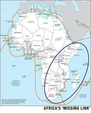 La mappa del divide africano